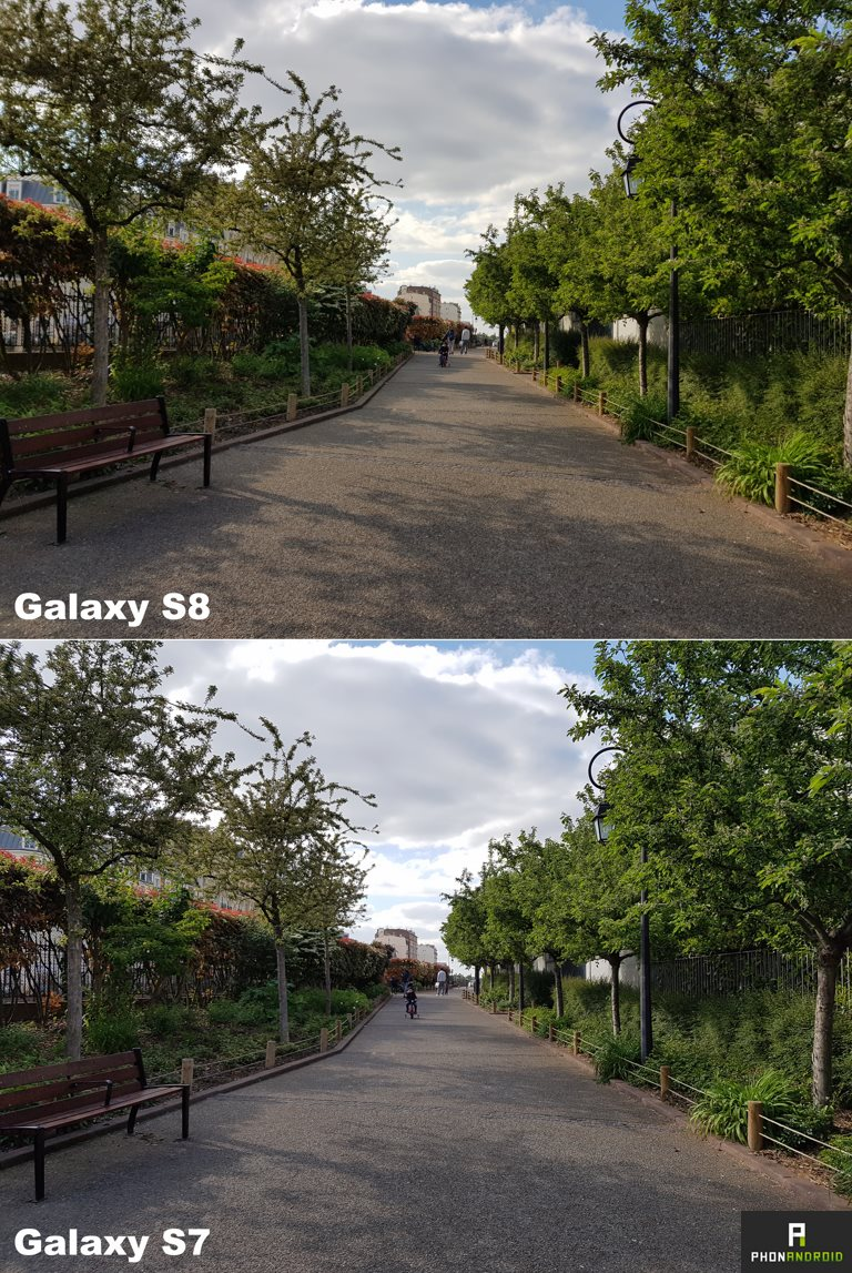 samsung galaxy s8 vs S7 photo jour
