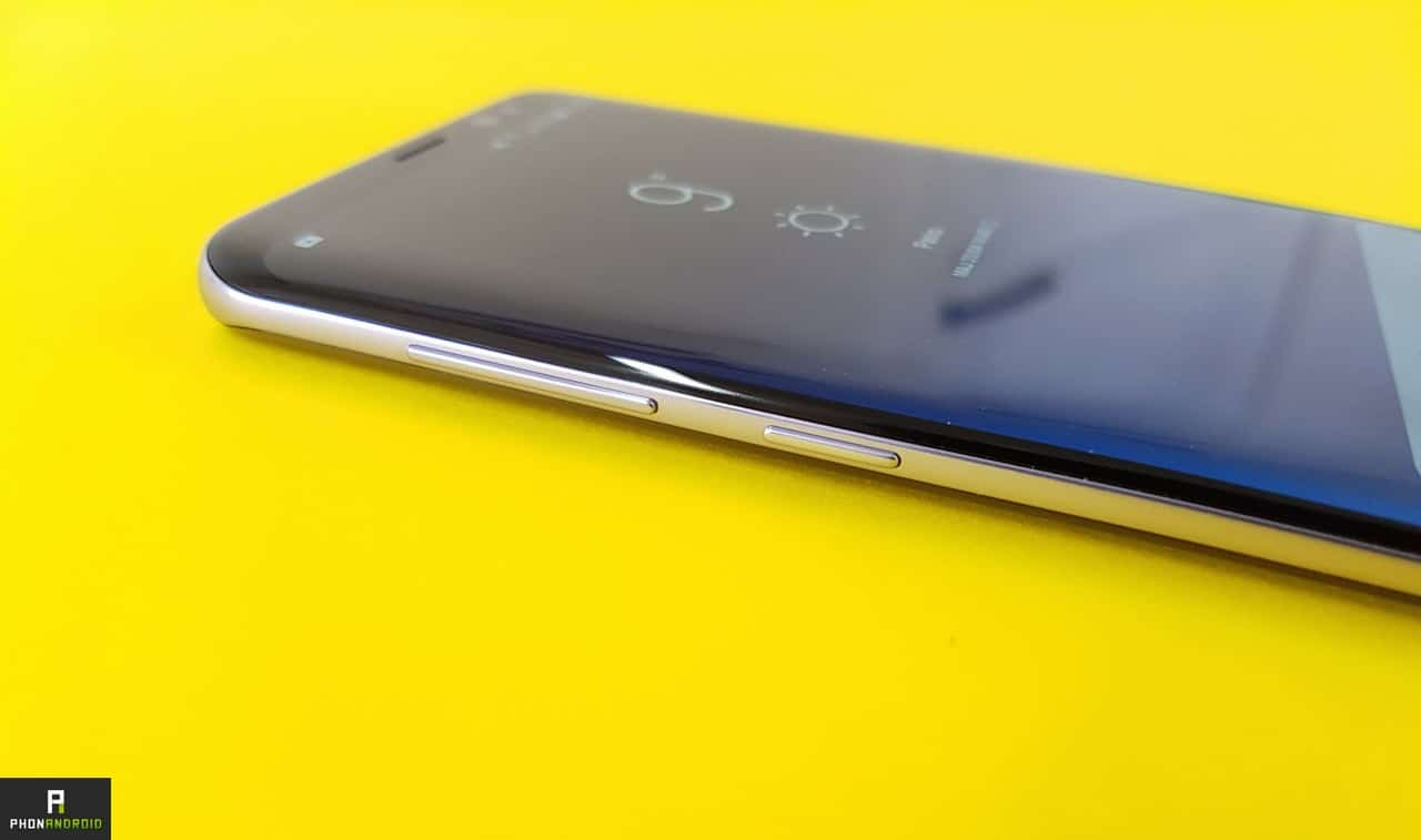 test samsung galaxy s8 bouton volume