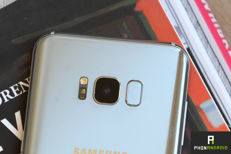 test samsung galaxy S8 plus capteur empreintes
