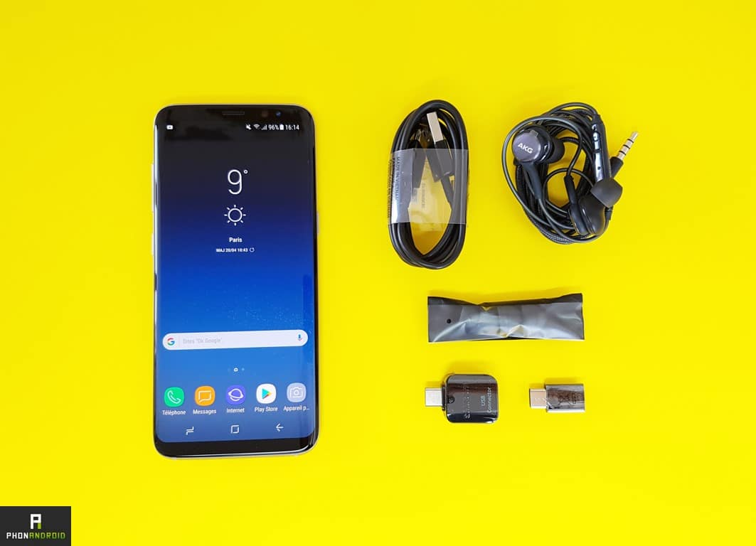 test samsung galaxy s8 unboxing