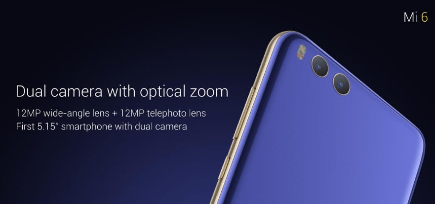 xiaomi mi6 double capteur photo