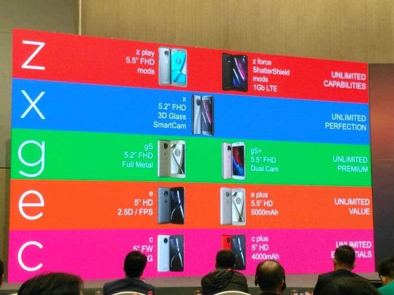 Motorola Lenovo Lineup 2017