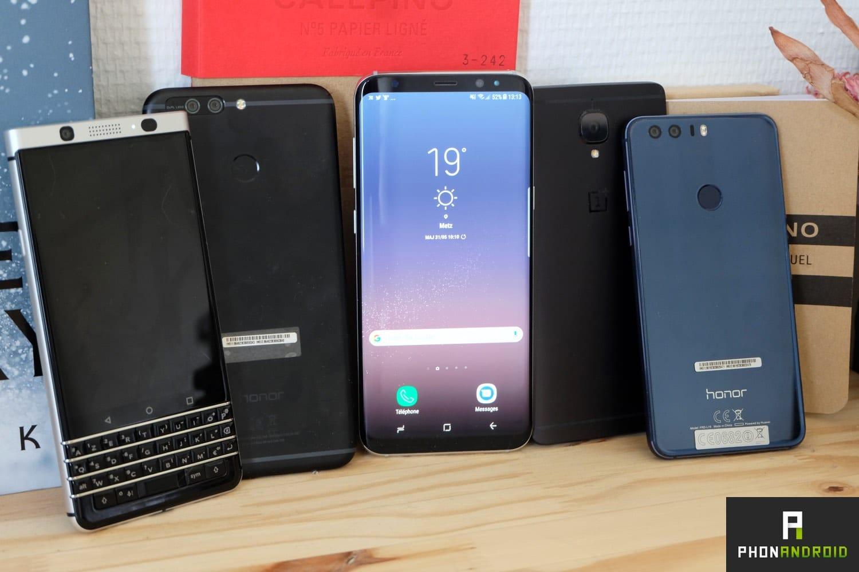 smartphones haut gamme 2017