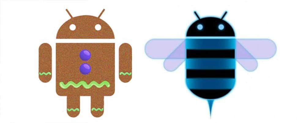 android gingerbread honeycomb