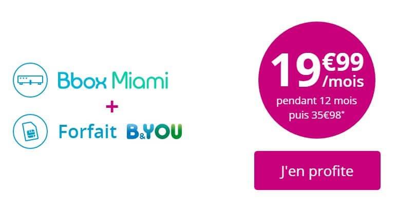 Bon plan abonnement Bbox avec forfait B&You