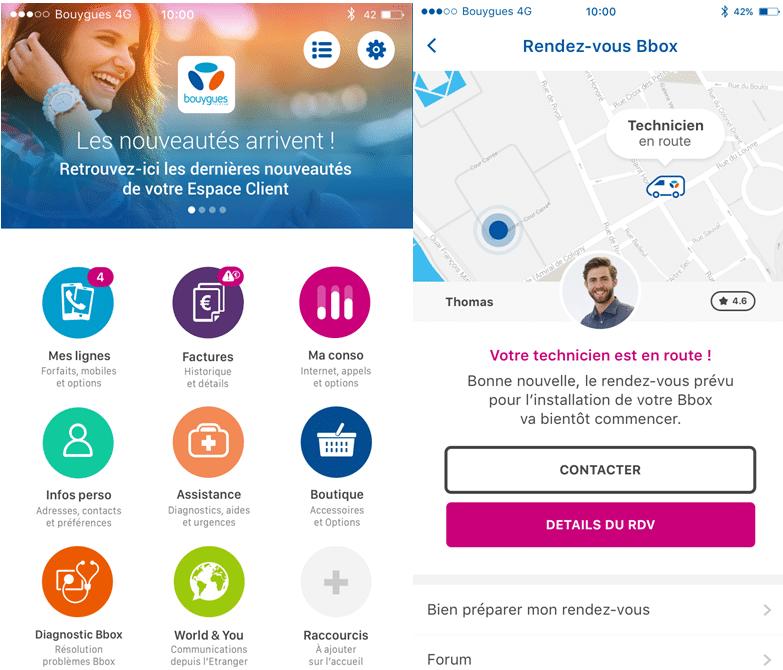 Bouygues Telecom, technicien fibre, géolocalisation