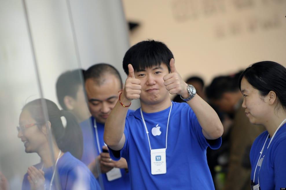 apple données volées chine employés