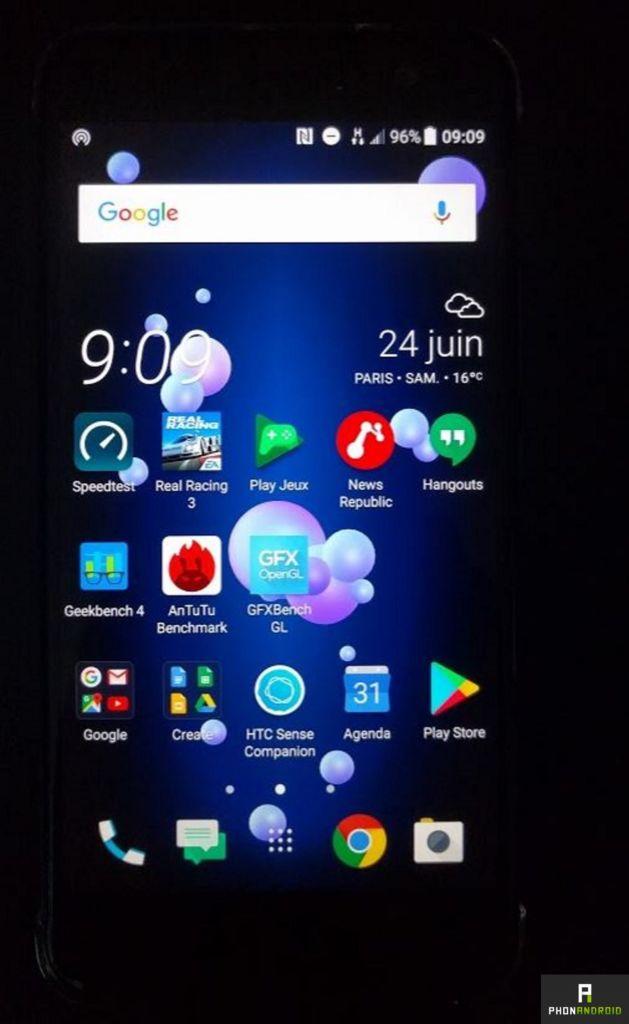 HTC U11 Ecran
