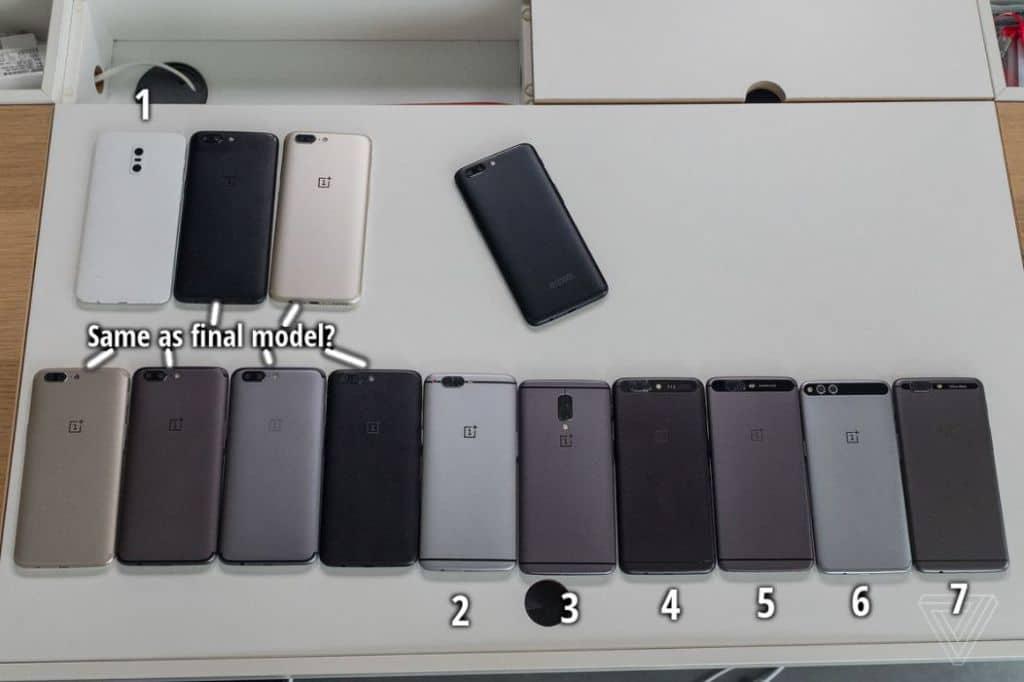 OnePlus 5 prototypes
