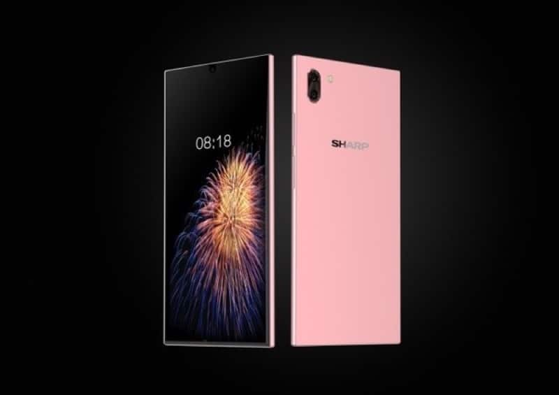 sharp nouveau smartphone borderless