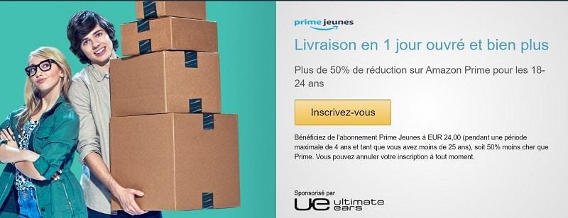 Amazon Prime Jeunes 18 à 24 ans