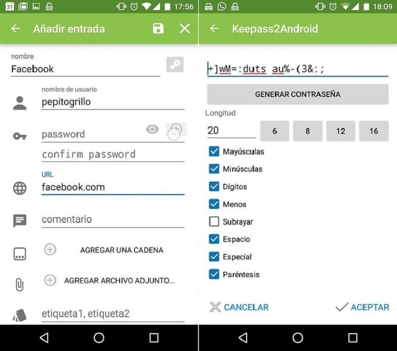 keepass2 android vie privée