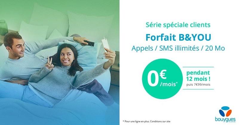 forfait bouygues b&you gratuit 20 mo