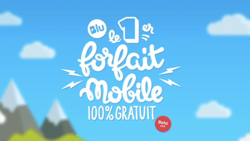 Blu forfait mobile gratuit france