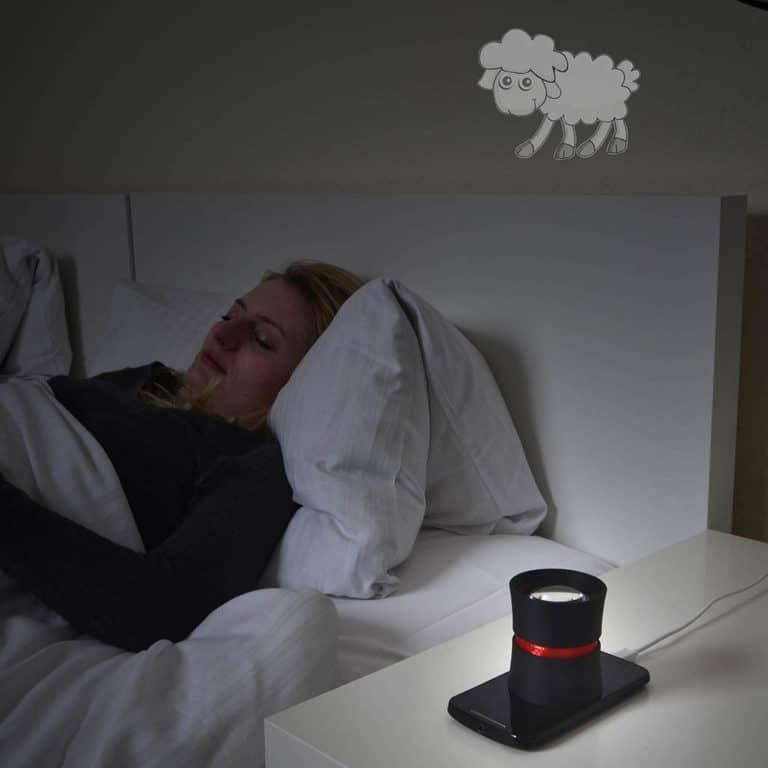 DreamMe écran smartphone plafond sommeil