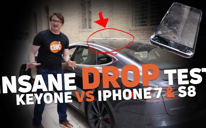 galaxy s8 iphone 7 keyone drop test