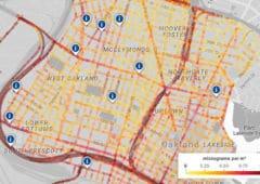 google maps cartographie pollution air