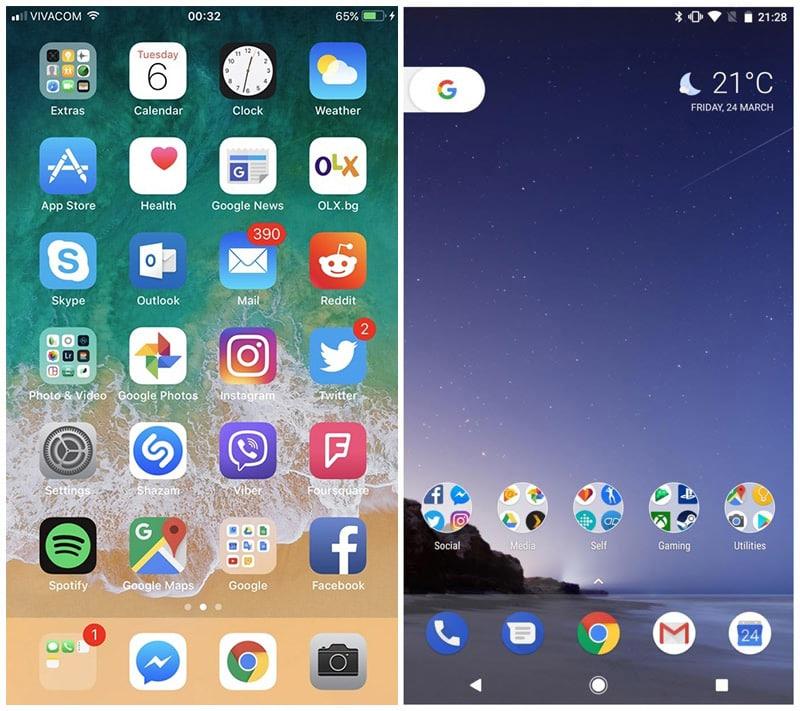 iOS 11 Android O