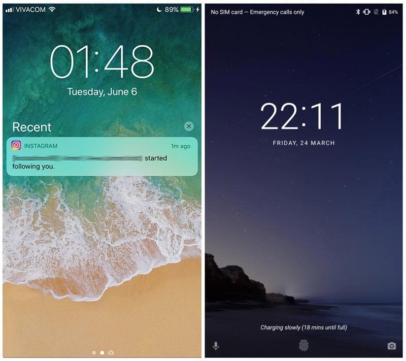 Ios 11 vs android o comparatif en images des 2 syst mes for Photo ecran ios 11