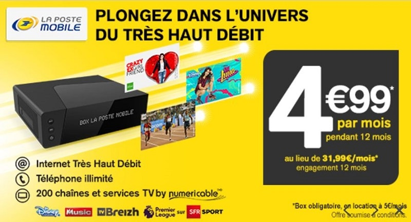 la poste mobile box tv