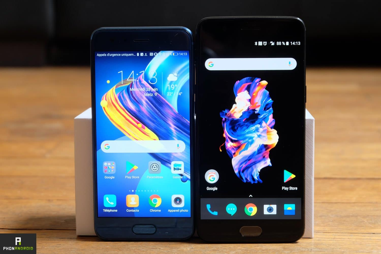oneplus 5 vs honor 9 interface