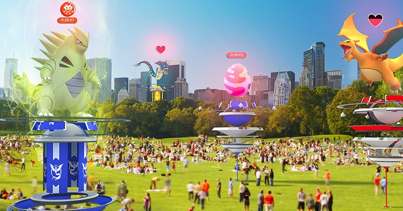 pokemon go, niantic labs, mise à jour, arènes, raids