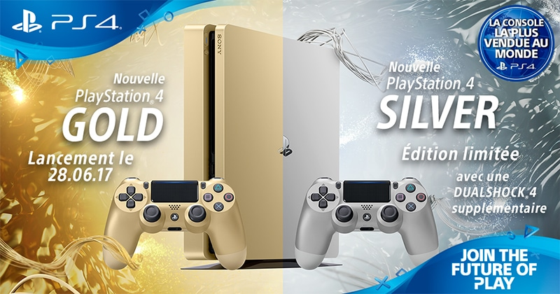 sony, playstation, ps4, ps4 gold, ps4 silver