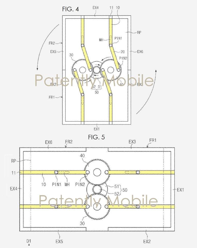 samsung, samsung display, brevets, schemas de conception