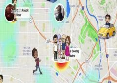 snapchat snap map contacts suivre