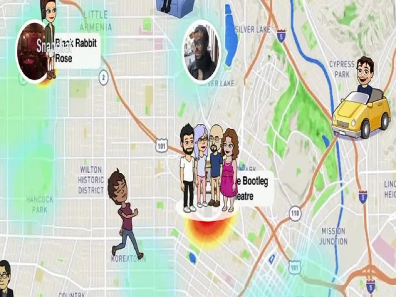 snapchat snap map contacts suivre trace