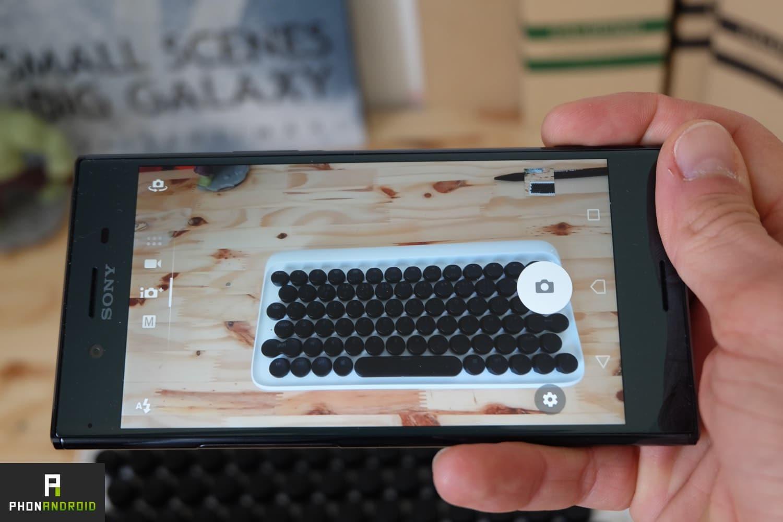 test sony xperia xz premium interface photo