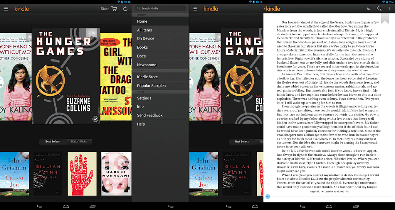 kindle lecture android