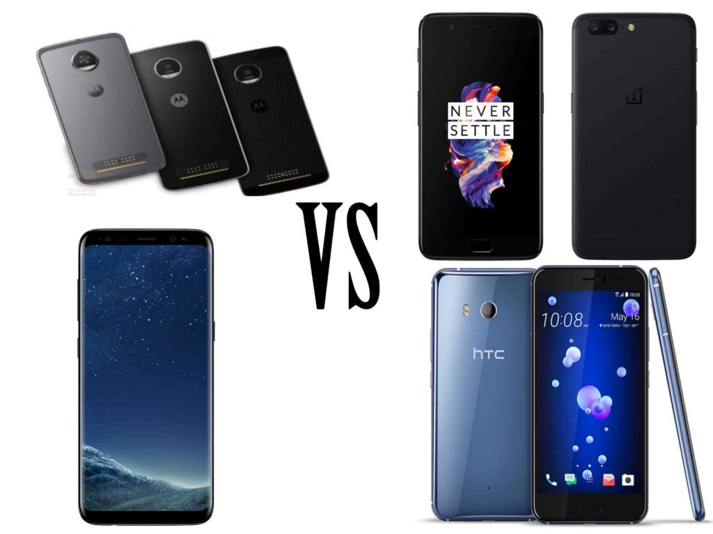 Moto Z2 Force VS OnePlus 5 VS Galaxy S8+ VS HTC U11