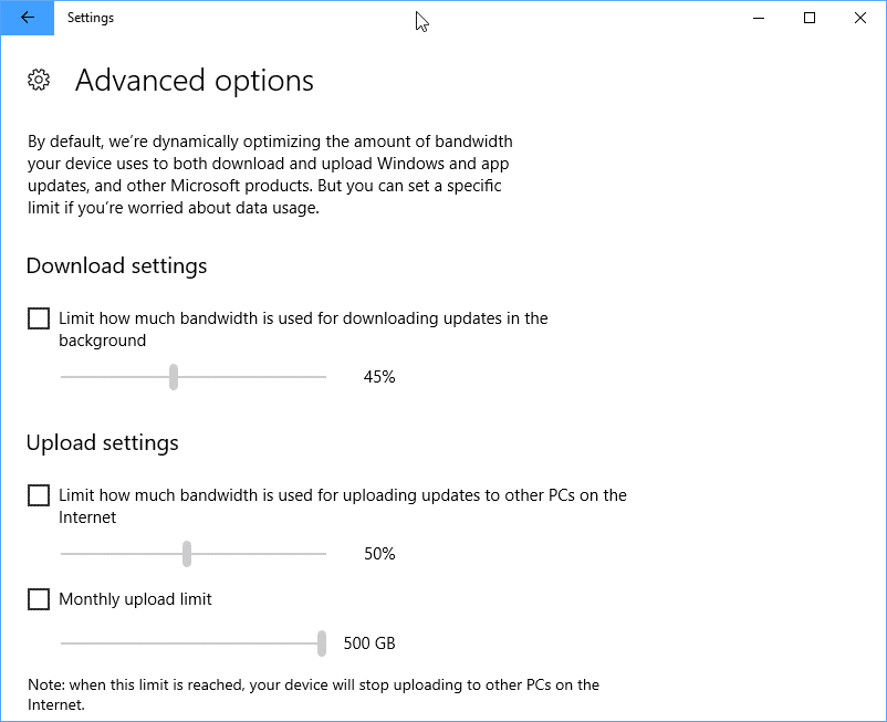 Windows 10 limiter bande passante