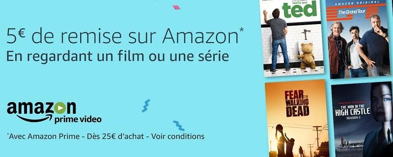 5 € de remise en regardant un film ou une série sur Amazon Prime Vidéo