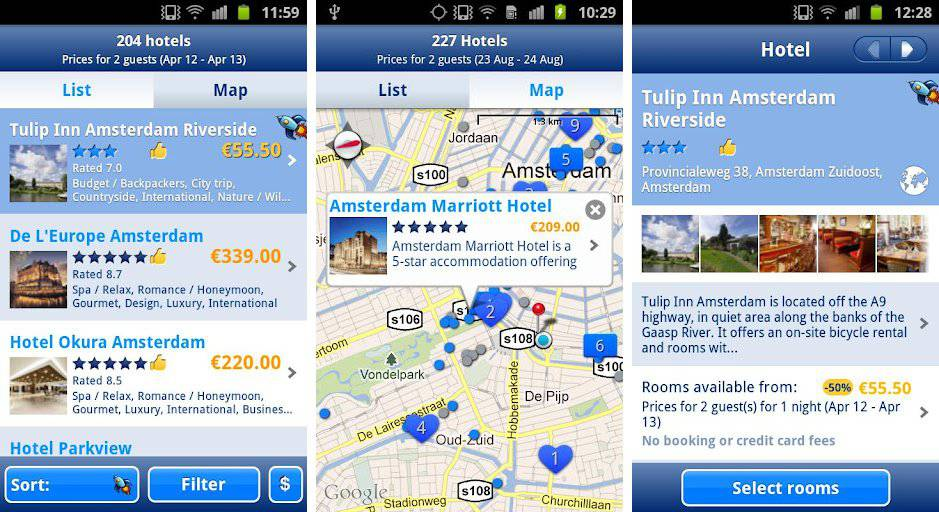 booking android voyage