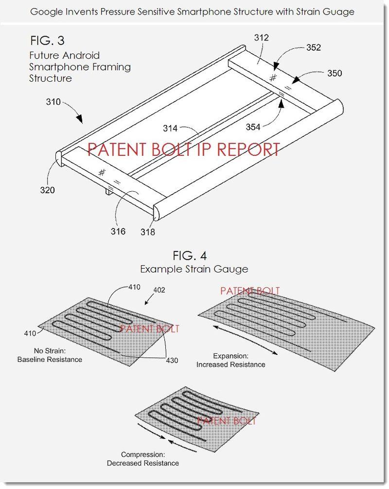 brevet google edge sense