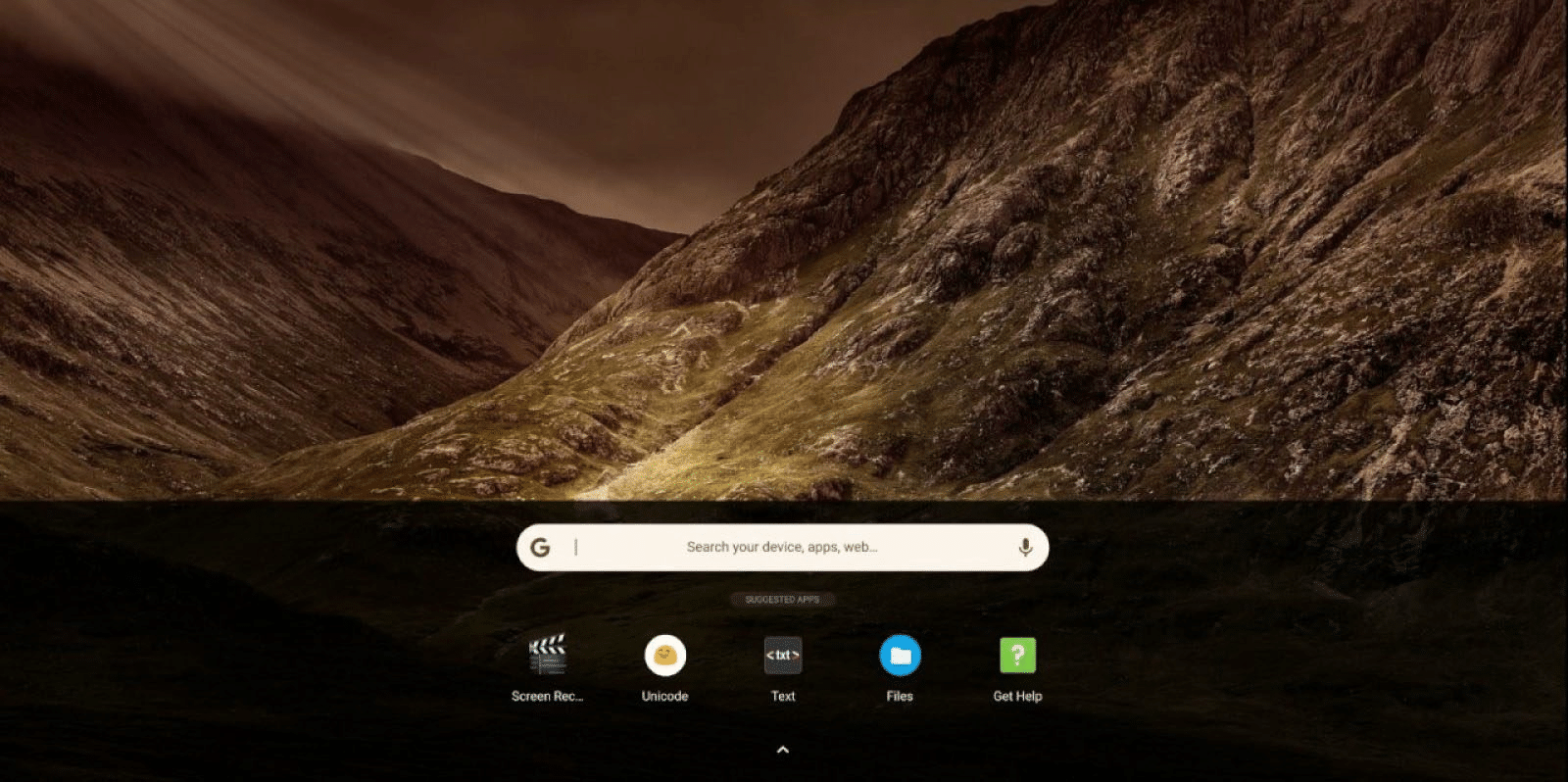 chrome os launcher tactile canary android