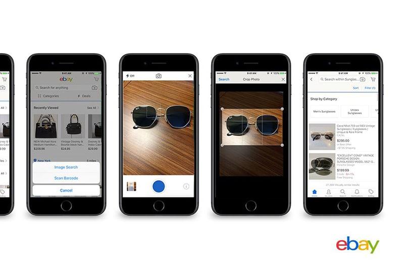 ebay image search application mobile smartphone reconnaissance visuelle
