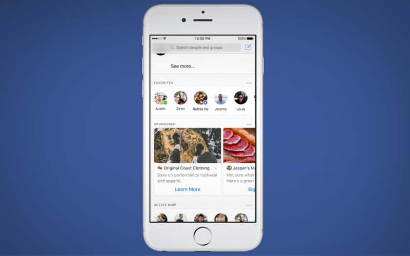 facebook messenger publicites