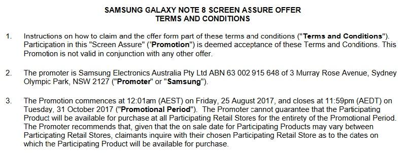 samsung galaxy note 8 opération promotionnelle réparation écran