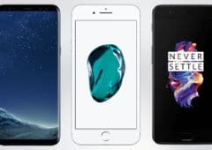 galaxy s8 iphone 7 oneplus 5
