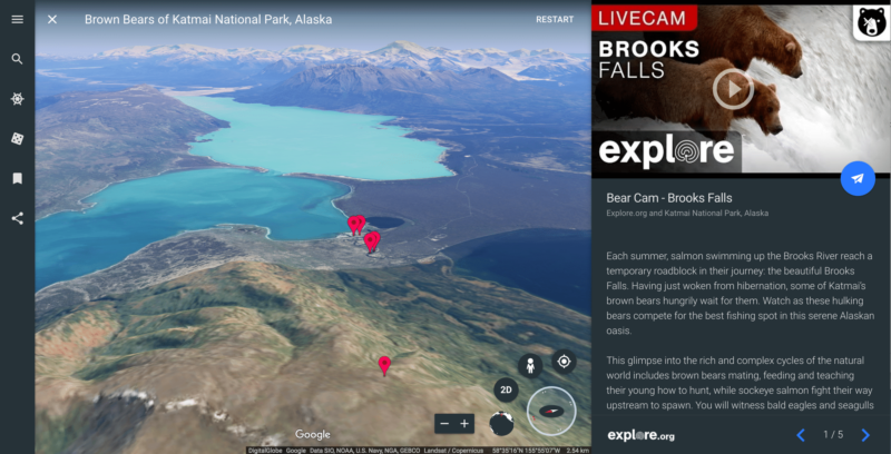 google earth alaska videos direct