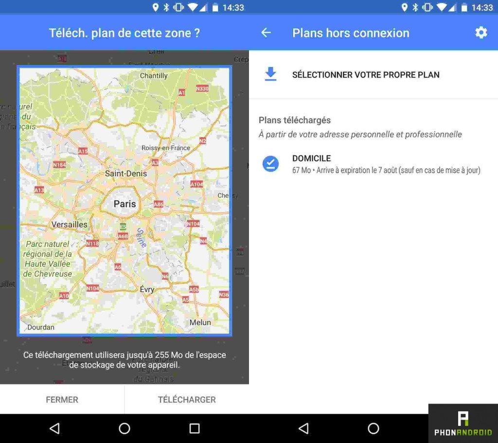 google maps hors ligne adresse