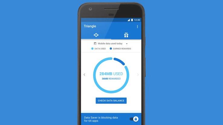 google triangle application data