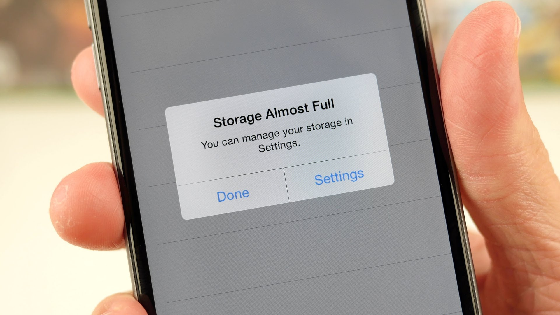 iphone mémoire pleine