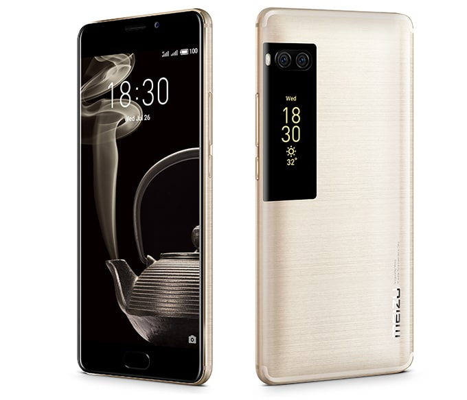 meizu pro 7 écran e-ink dorsal design smartphone