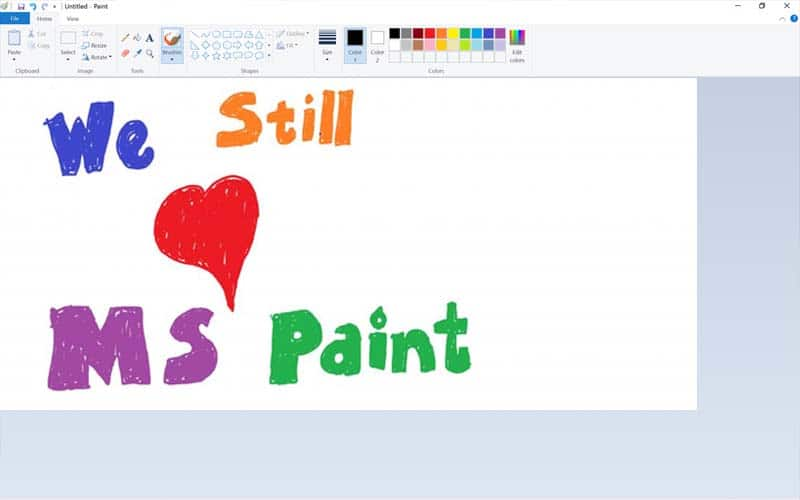 ms paint still love