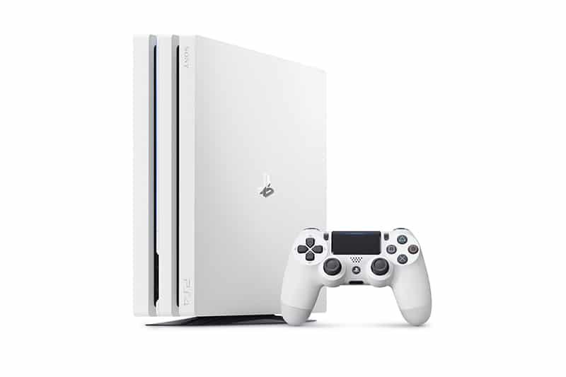 ps4 pro sony version blanche glacier white console