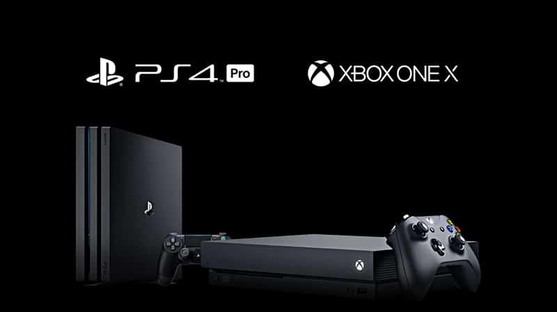 ps4 pro xbox one x sony microsoft console de jeux